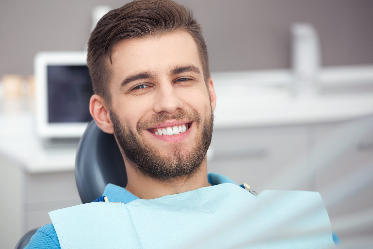 happy patient after successful digital smile design treatment